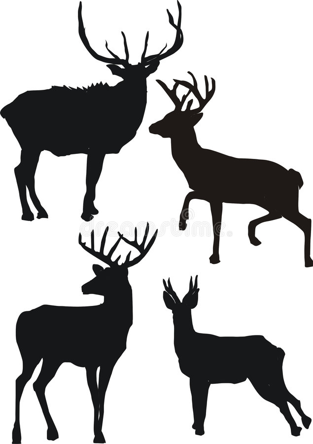 Free Deer Silhouettes Royalty Free Stock Photos - 2945388
