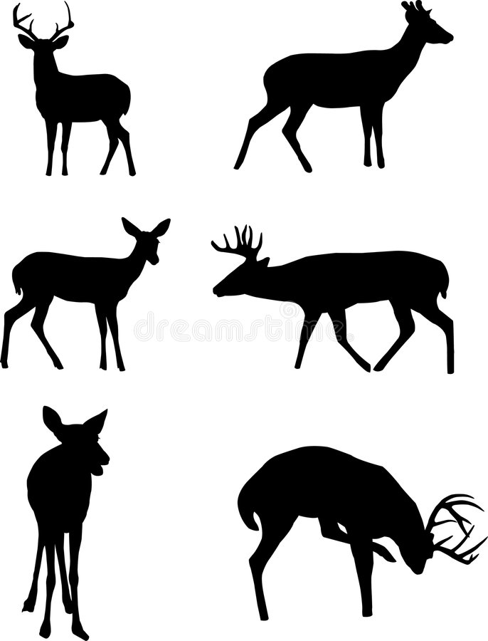 Free Deer Silhouettes Stock Image - 4517951