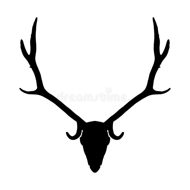 Free Deer Skull Black Silhouette On White Background, Vector Eps 10 Royalty Free Stock Photography - 160729167