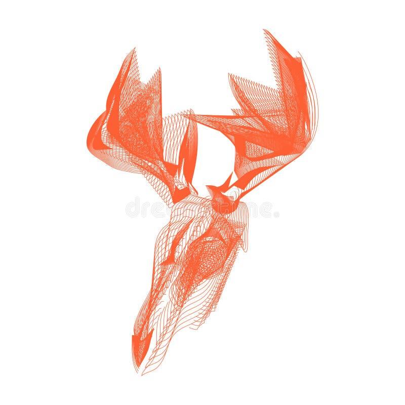 Deer skull stock photography