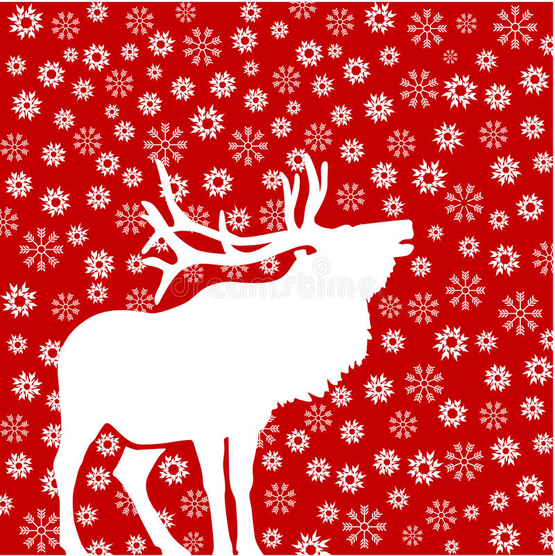 Download Deer with snowflakes stock vector. Image of winter, scandinavian - 20459013