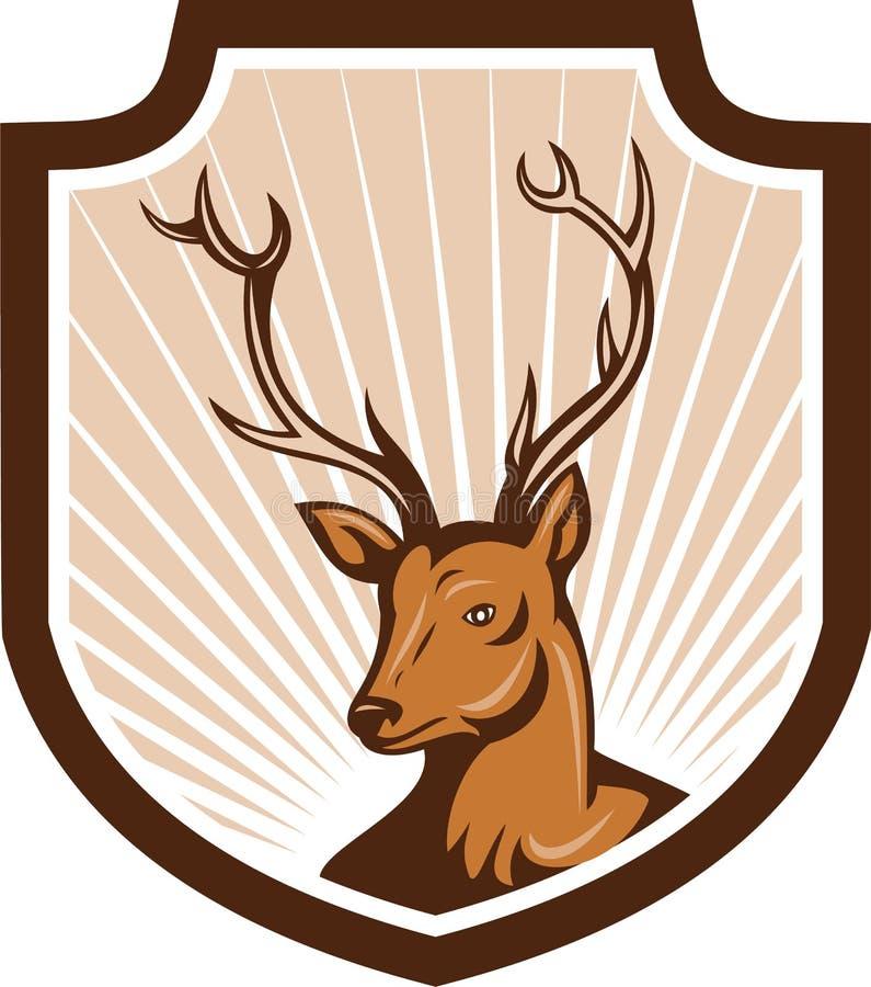 Free Deer Stag Buck Antler Head Shield Royalty Free Stock Images - 38825089