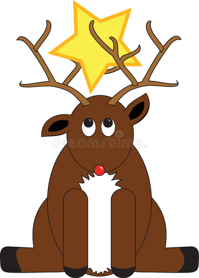 Deer and Star stock images