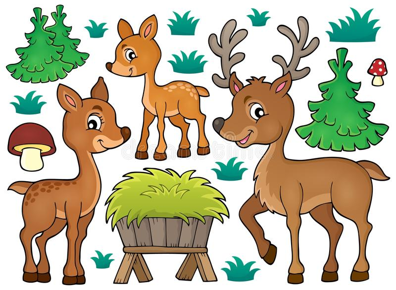 Deer theme collection 1. Eps10 vector illustration royalty free illustration