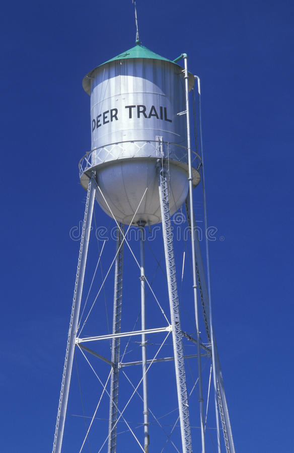 Download Deer Trail  sign stock photo. Image of united, color - 26284476