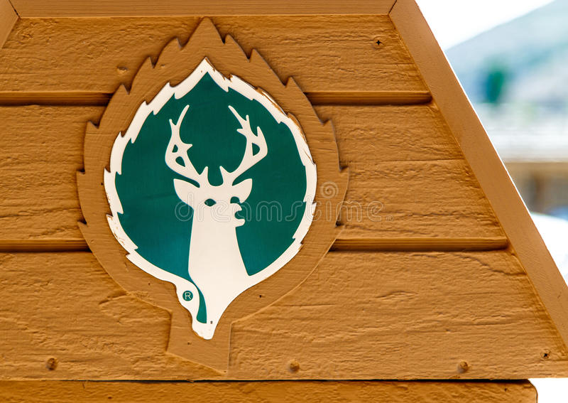 Deer Valley logo royaltyfri foto