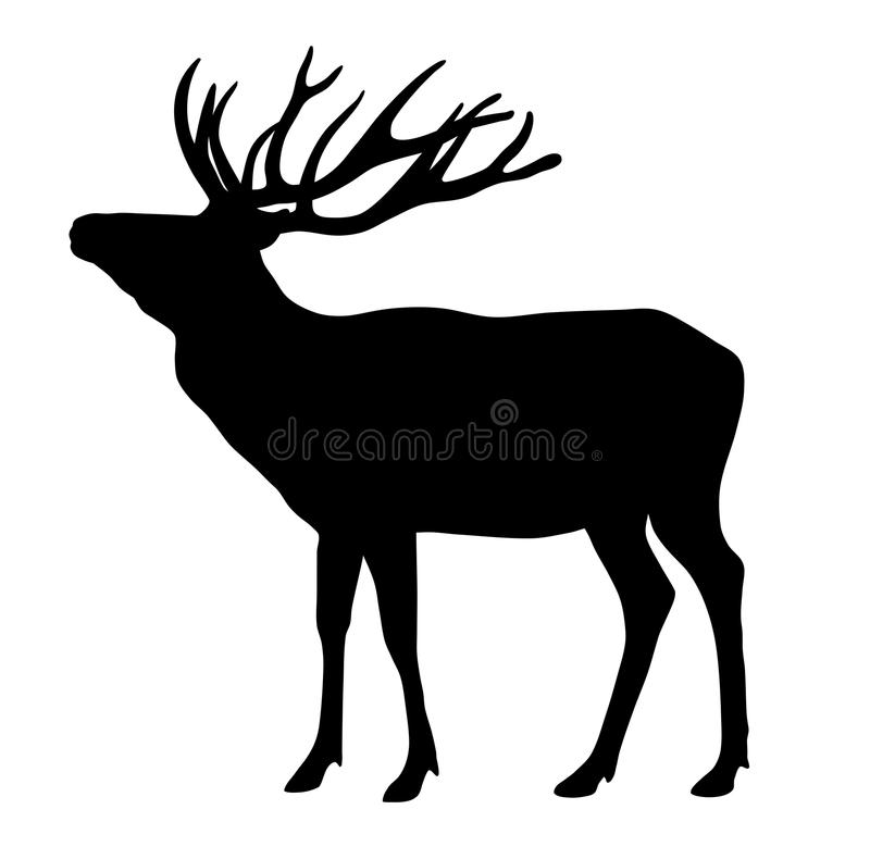 Deer. Vector illustration of deer silhouette royalty free illustration