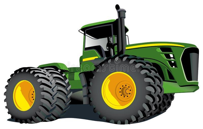 deerejohn traktor vektor illustrationer