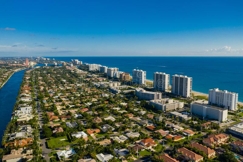 Deerfield Beach real estate homes. USA royalty free stock image