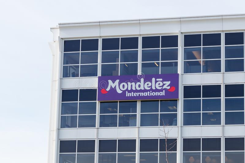Mondelez International Headquarters. Mondelez is the snack food spin off of Kraft Foods I. Deerfield - Circa June 2019: Mondelez International Headquarters royalty free stock photos