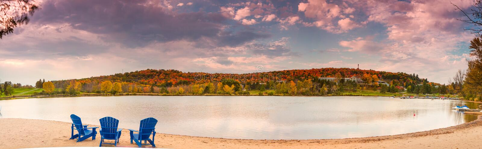 Deerhurst Resort. Is in Huntsville. It is famous resort for its landscape and G8 royalty free stock images