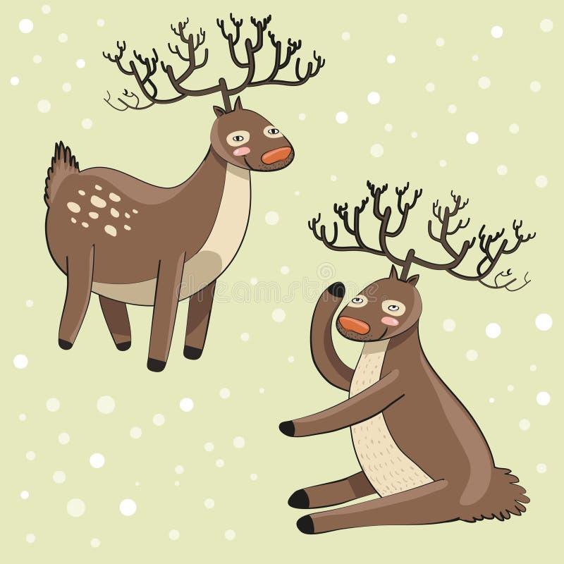 deers κινούμενων σχεδίων αστ&epsilon διανυσματική απεικόνιση