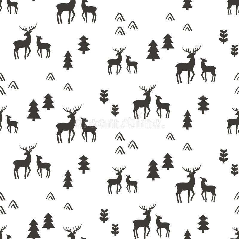 deers仿造无缝 库存例证