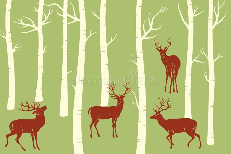 Deers ilustração stock