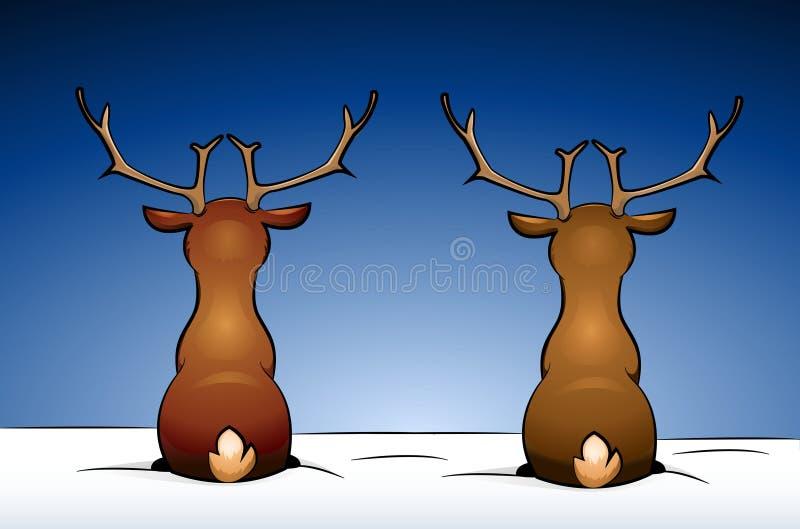 Download Deers stock vector. Illustration of reindeers, cartoon - 21413879