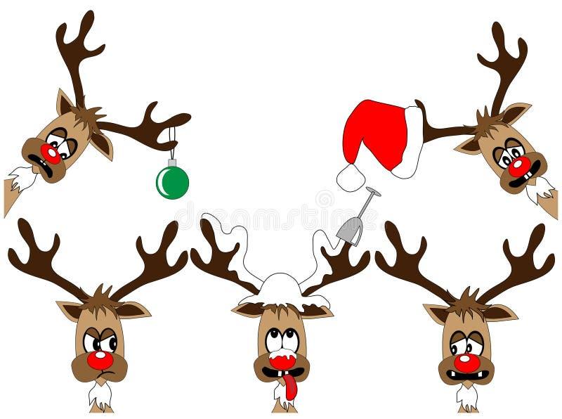 Deers engraçados ilustração royalty free