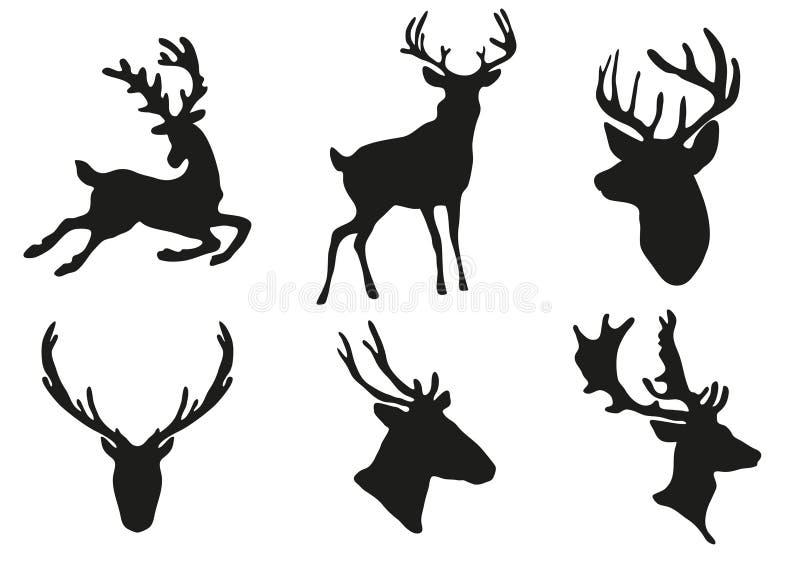Download Deers silhouette stock illustration. Illustration of artwork - 16761867