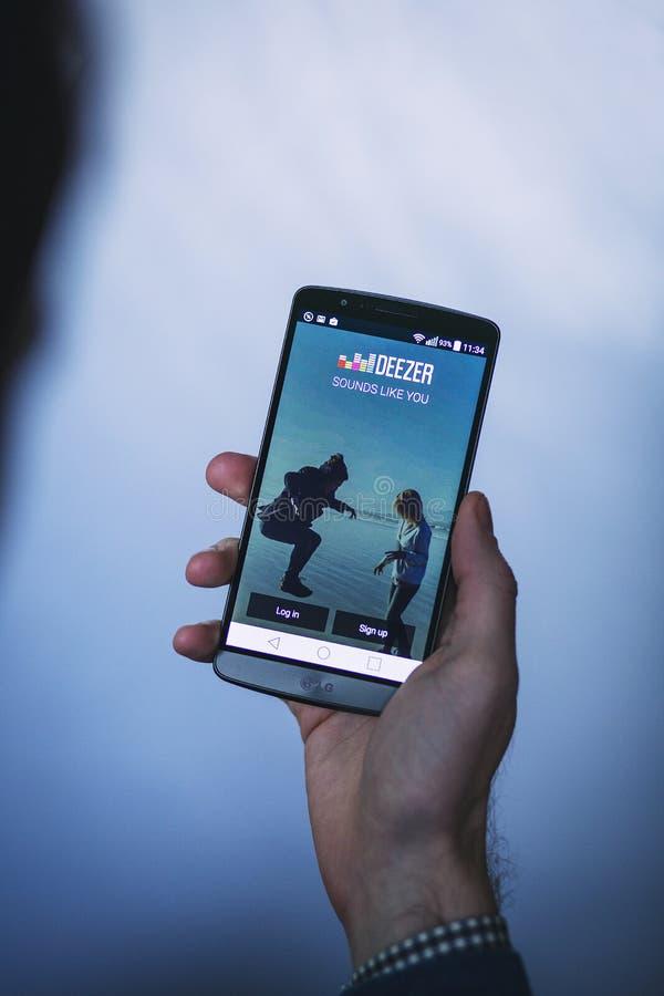 Deezer App On Smartphone Free Public Domain Cc0 Image