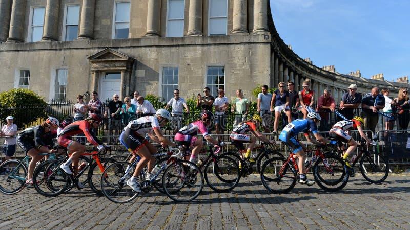 Def. van parelizumi tour series bicycle race in Bad Engeland stock afbeeldingen