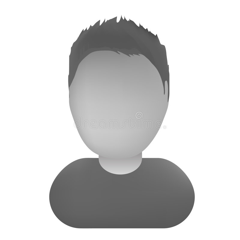 Default Avatar Thumb. Vectorial illustration for default avatars or users stock illustration