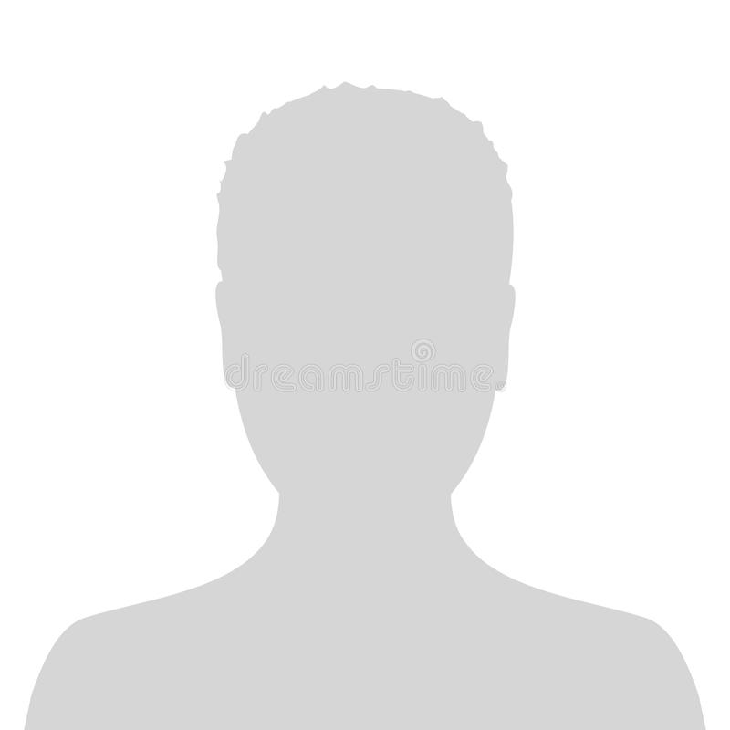 Default male avatar profile picture icon. Grey man photo placeholder. stock images