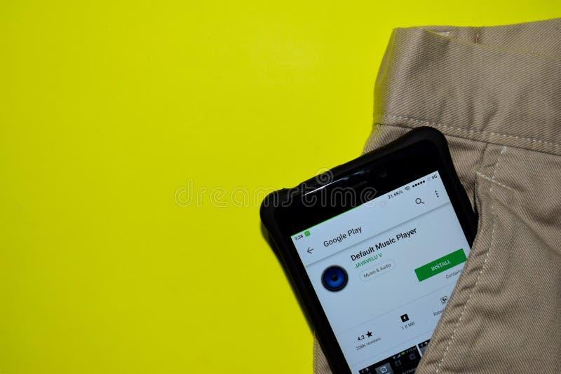 Default Music player dev application on Smartphone screen. BEKASI, WEST JAVA, INDONESIA. DECEMBER 10, 2018 : Default Music player dev application on Smartphone royalty free stock image