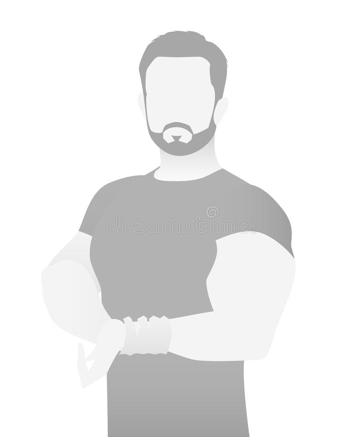 default placeholder fitness trainer in a t shirt stock vector