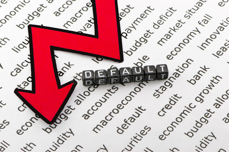 The default state of the economy as a. The default state of the economy on a white background royalty free stock photos