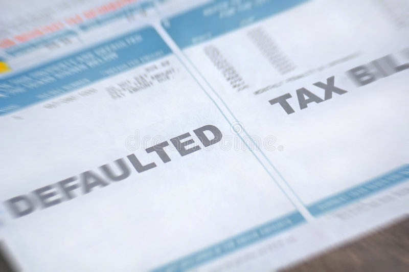 Download Defaulted Tax Bill With Blur Stock Image - Image: 4108129