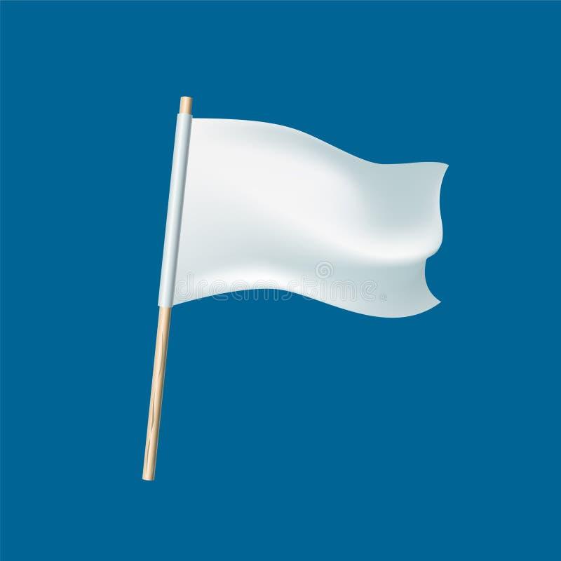 Defeat surrender symbol - white flag. Defeat symbol. Vector illustration - white flag. Surrender sign vector illustration