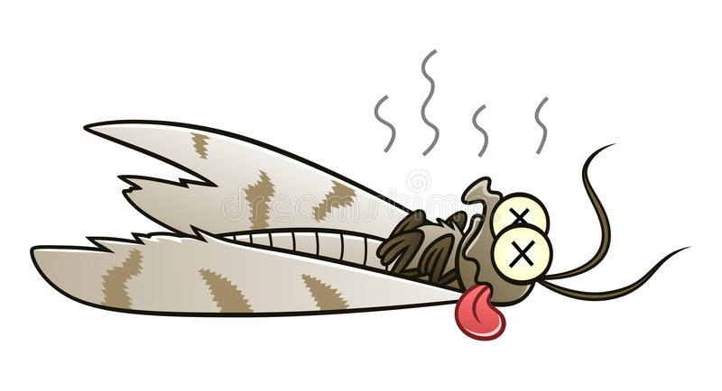 Defeated moth royalty free illustration