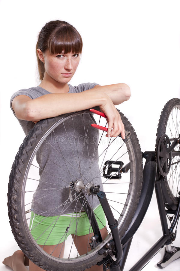 Download Defect bike stock photo. Image of face, indoor, holding - 14823190