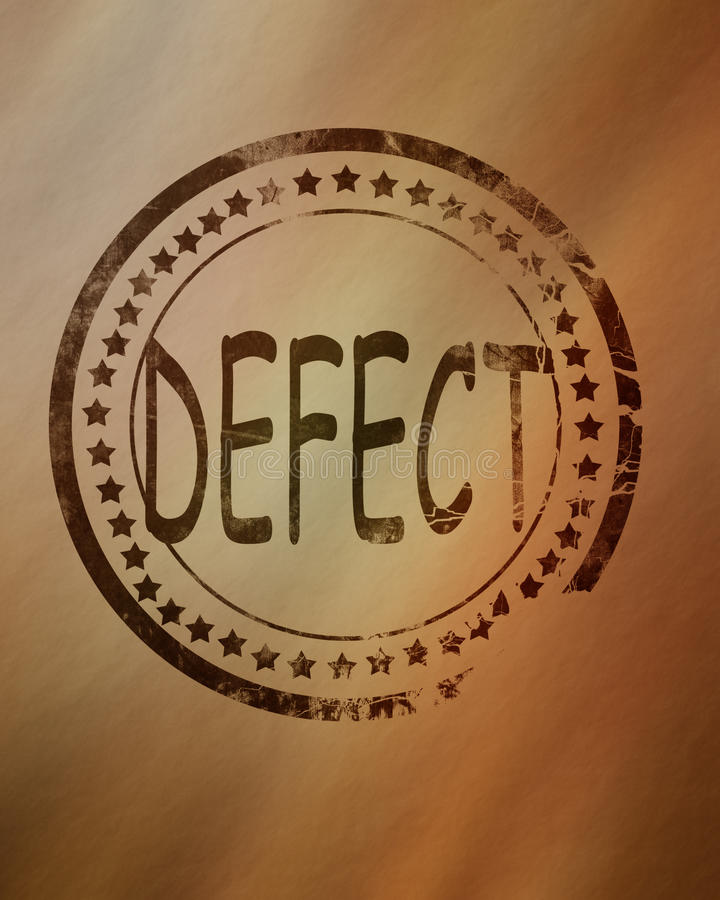 Defect stamp on a grunge background royalty free stock photos