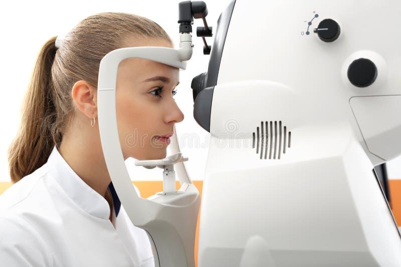 Defekt wzrok, komputerowego wzroku test fotografia stock