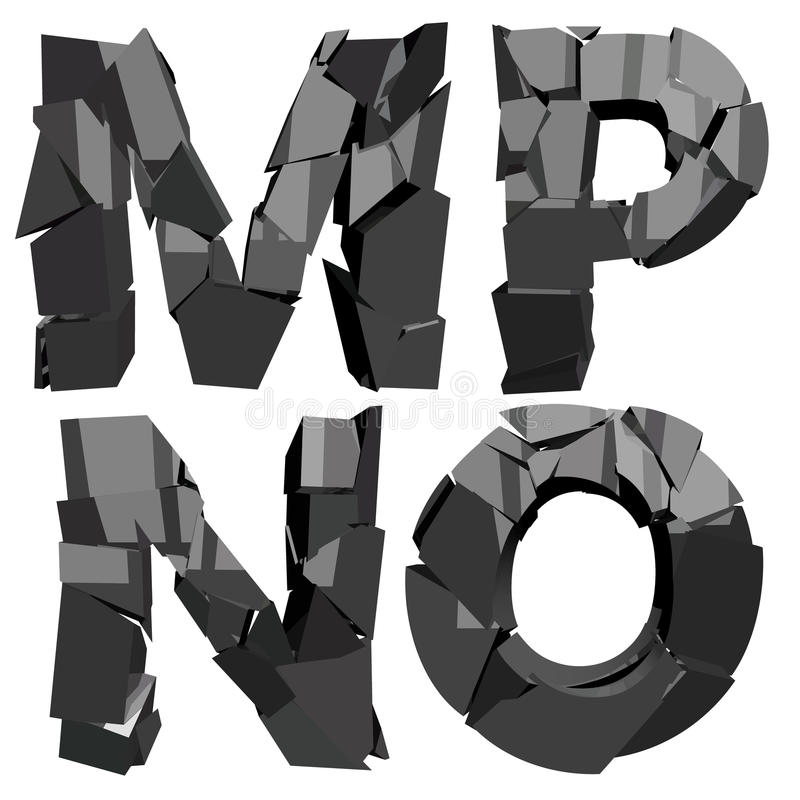 Defekte Buchstaben 3D lizenzfreie abbildung