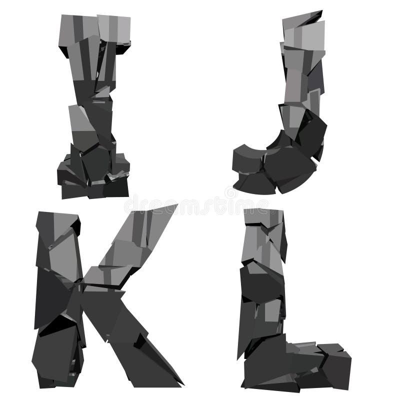 Defekte Buchstaben 3D vektor abbildung