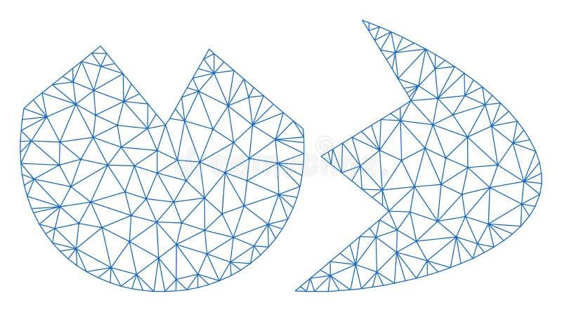 Defekte Eierschalen-polygonaler Rahmen-Vektor Mesh Illustration vektor abbildung