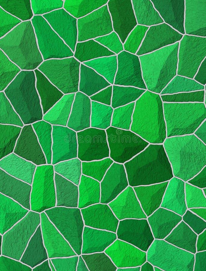 Defekte Fliesen Mosaikfußboden oder Wand. Hintergrundbeschaffenheit lizenzfreie abbildung