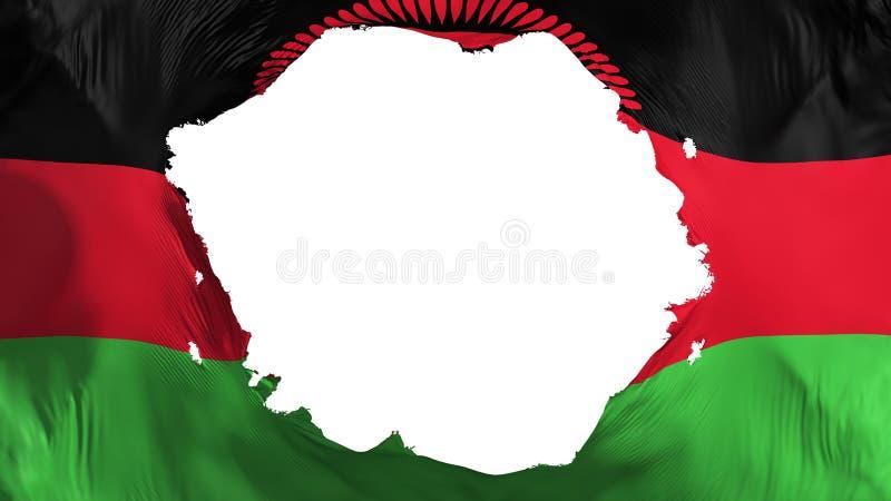 Defekte Malawi-Flagge stock abbildung