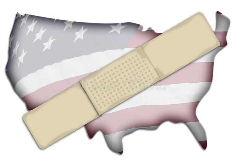 Defekte Vereinigte Staaten lizenzfreie abbildung