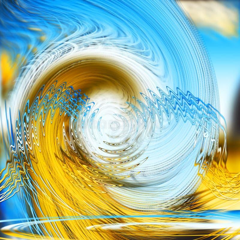 Defekte Wellenspiralen des Zusammenfassungshintergrundes stockfotos