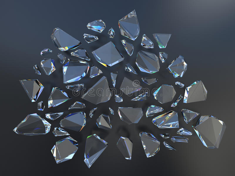 Defekter Kristallhintergrund lizenzfreie abbildung