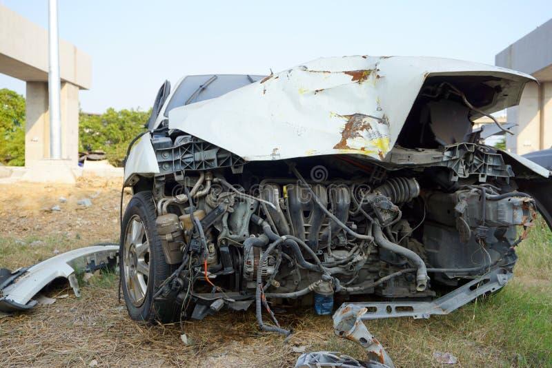 Defekter Motor- Unfall stockfotografie