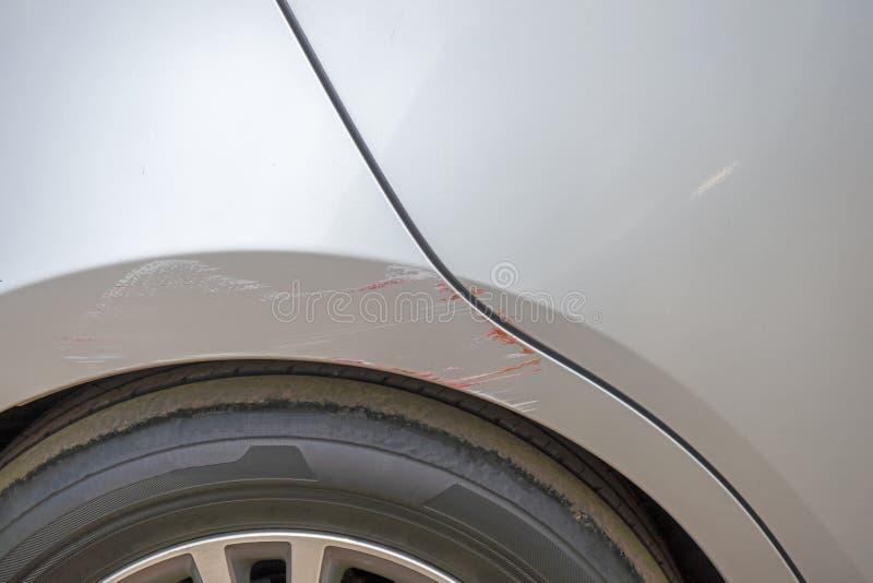 Defekter Selbstschaden des Zusammenstoßautounfall-Unfalles stockfotografie