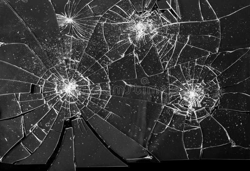 Defekter zerbrochener Glasscherbe-Hintergrund stockbild