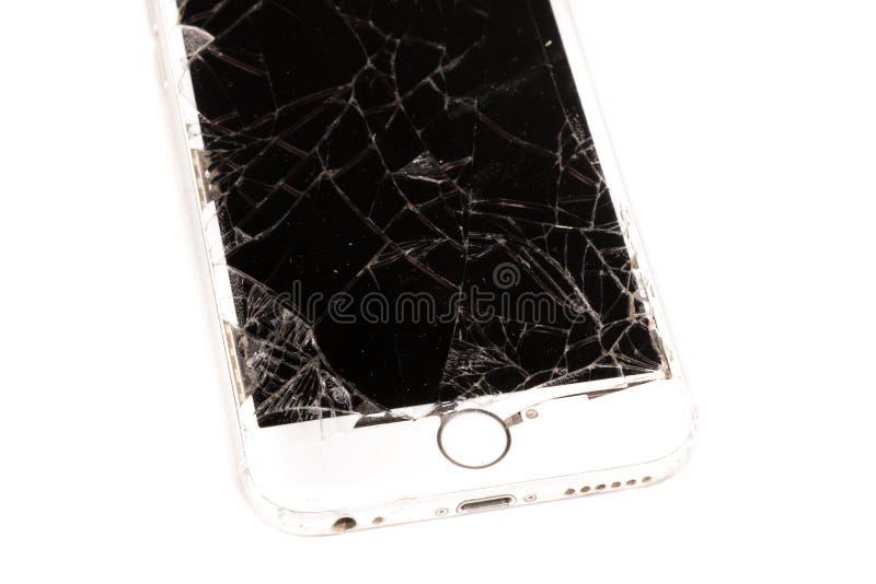 Defektes iPhone 6S entwickelte sich durch die Firma Apple Inc lizenzfreie stockbilder