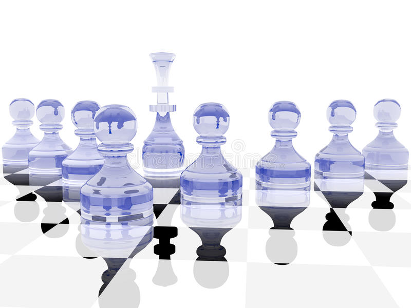 Download Defence stock illustration. Image of pawn, board, defence - 12356498