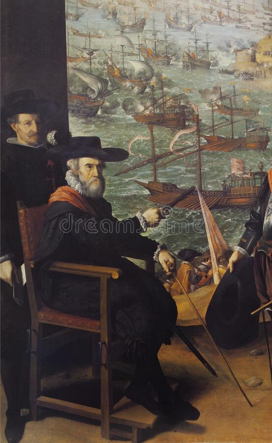 The Defence of Cadiz against the English. Detail royalty free stock images