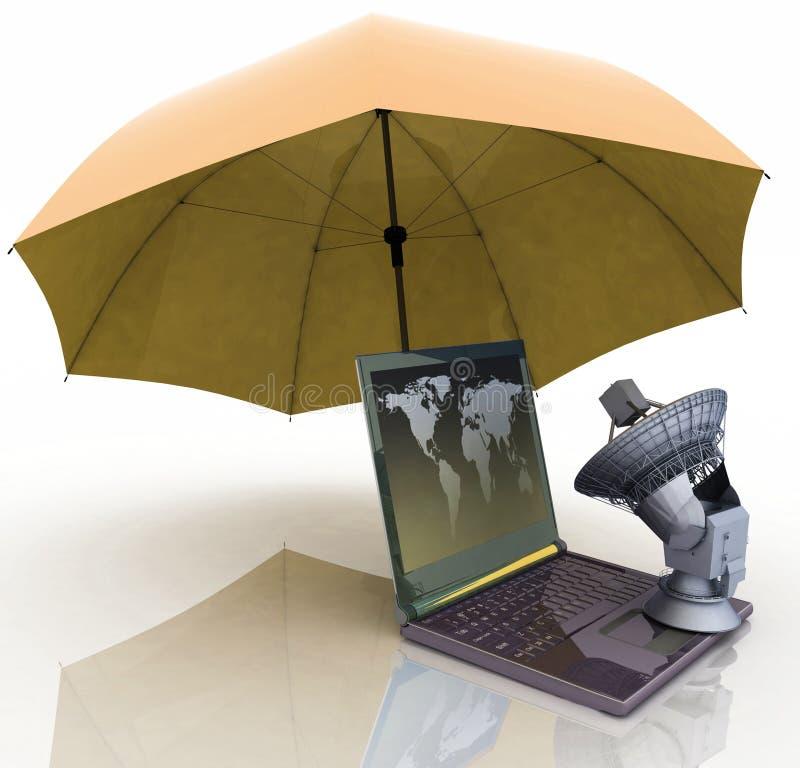 Defence informacja osobista jest w globalnej sieci ilustracji