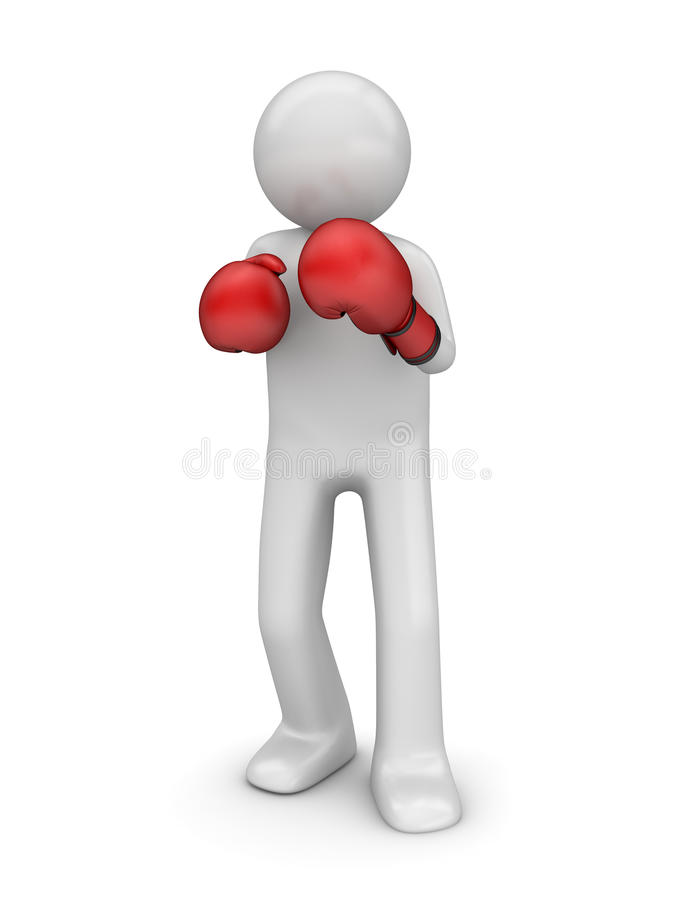 Defending in boxing royalty free stock photos